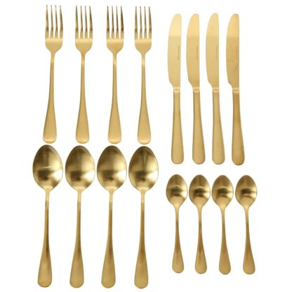 Besteckset Gold