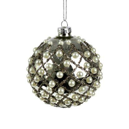 Weihnachtskugel Perlen